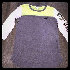 Pink quarter sleeves shirt